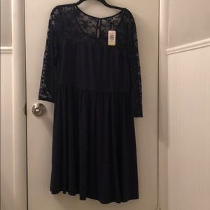 Torrid 3/4 Sleeve Lace Dress